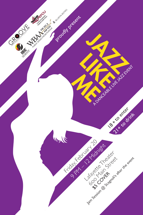 Jazz Like Me: A Danceable Jazz Event